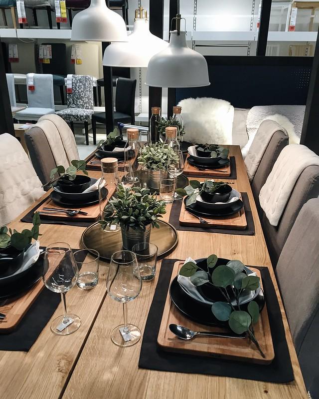 ikea, suomi, finland, keittiö, kitchen, malli esimerkki, kattaus, ruokapöytä, syksy, autumn, fall, kotoisa, cozy, somple autumn setting, food table,