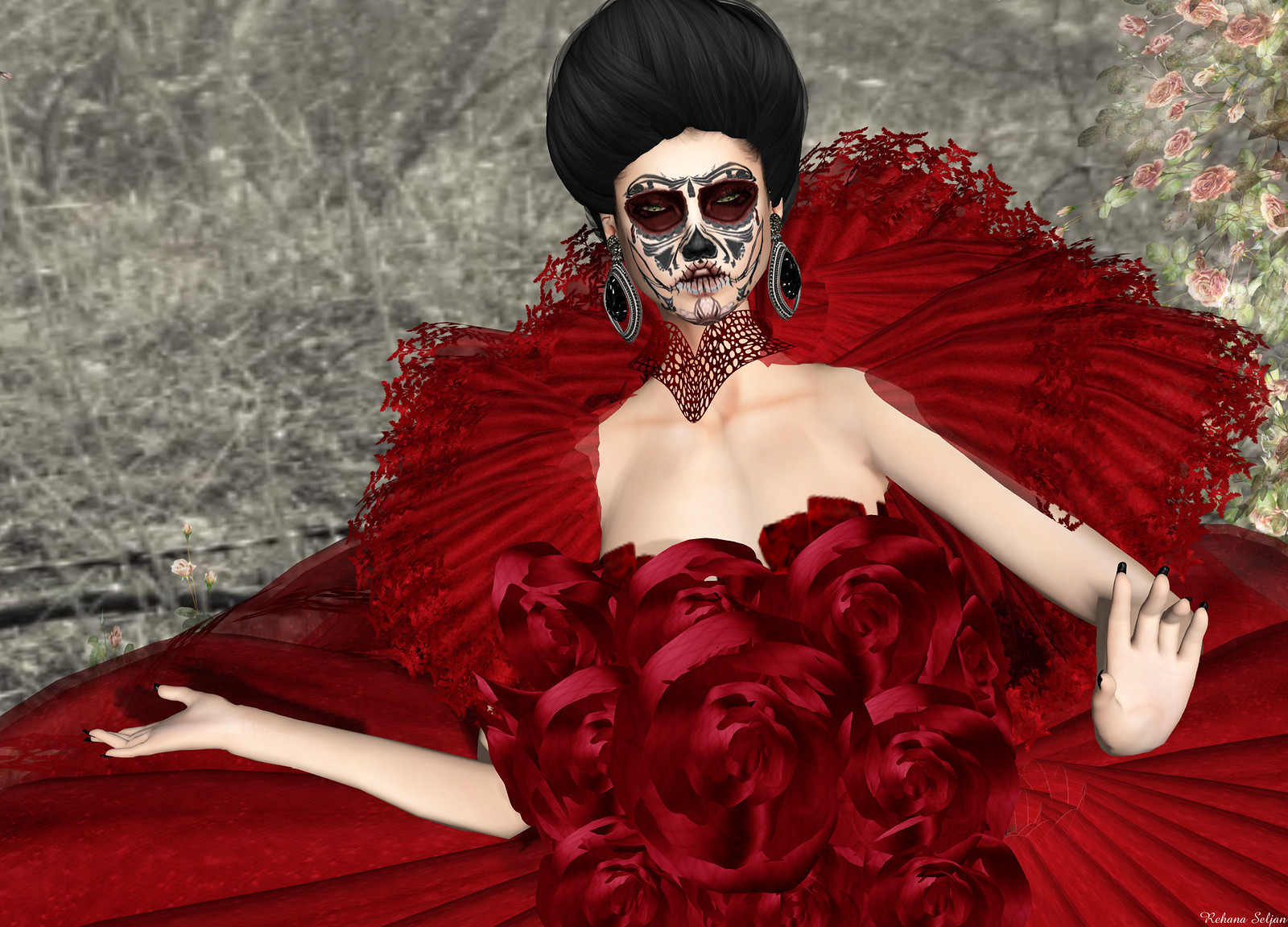 VIRTUAL DIVA - Catrina Gown