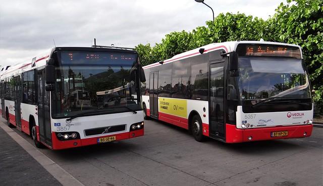 Maastricht station Veolia bussen Volvo 7700 + Ambassador
