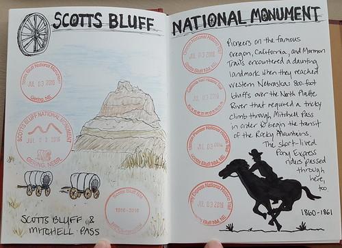 My sketch of Scotts Bluff NM