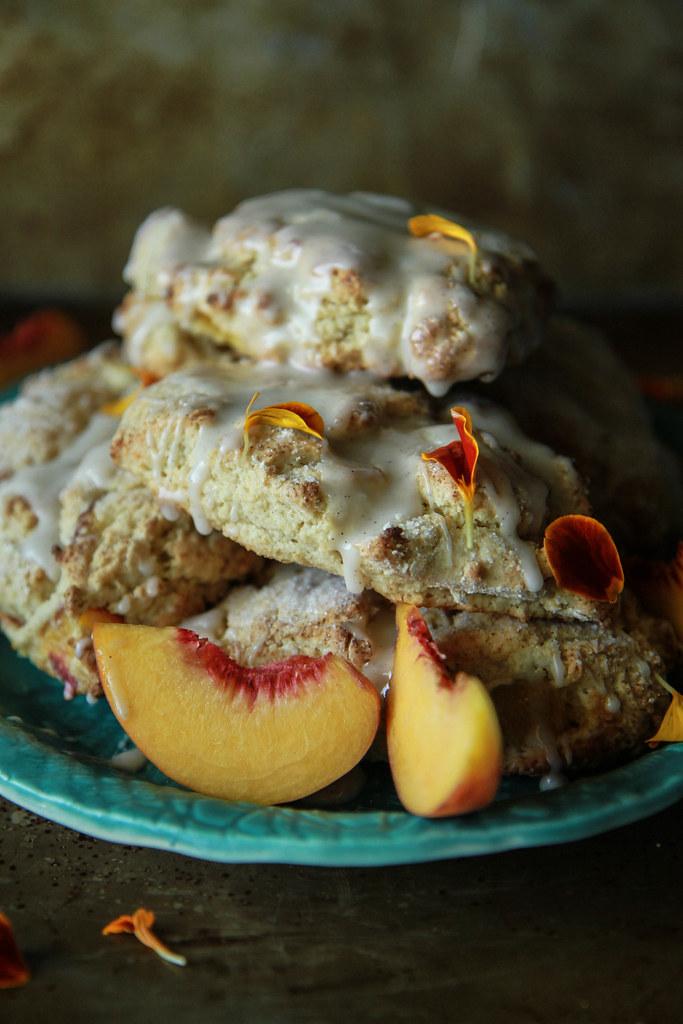 Peach Scones-gluten free and vegan from HeatherChristo.com