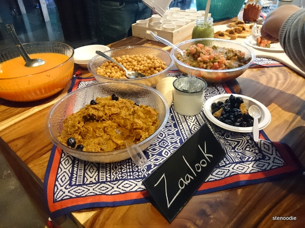 Moroccan food on the table