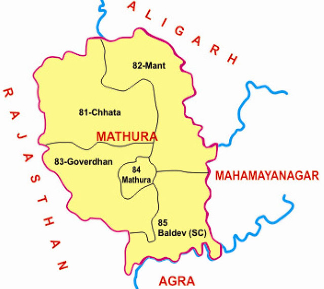 Mathura district Uttar Pradesh Election 2017