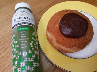 Silly juice and Notella Doughnut