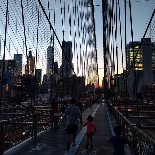 What a great night to walk the Brooklyn Bridge!