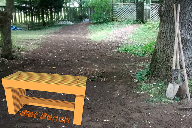 Slat Bench in Situ