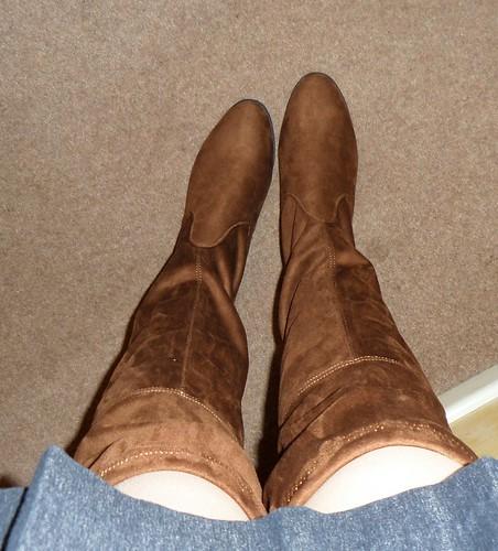 Primark tan OTK boots