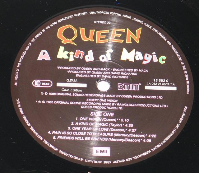 "Queen - A Kind of Magic Club Edition 12"" vinyl LP album"