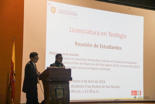 Teología socializa el nuevo registro calificado 2016