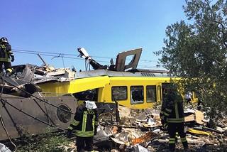 Andria. Incidente ferroviario front