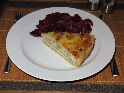 Blumenkohltarte mit Rote Bete Salat