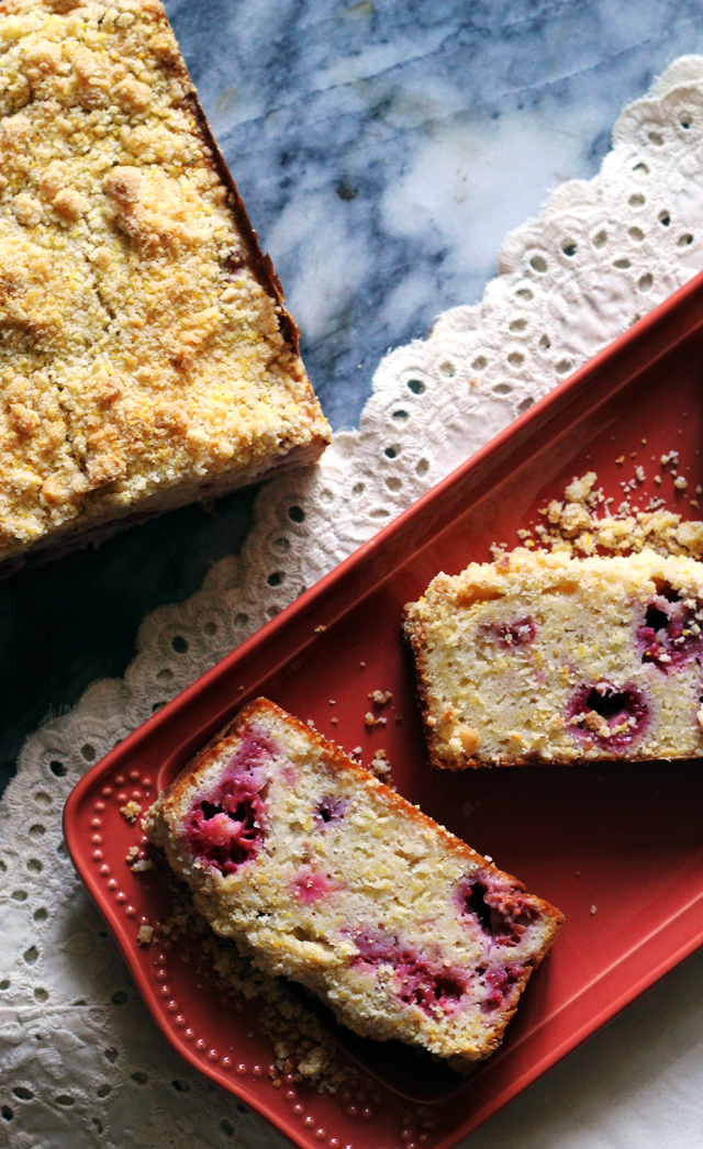 Brown Butter Raspberry Cornbread