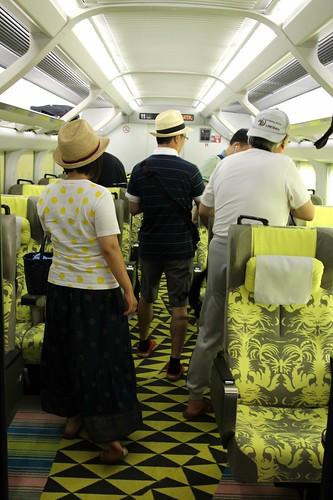松本尚之現美新幹線指定席。E3 改裝的。最速移動美術館。