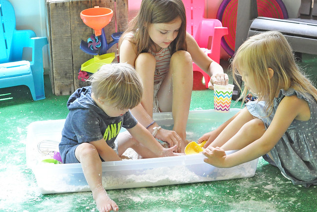 Cloud Dough Sensory Bin