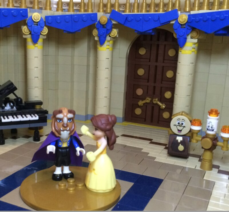 beauty and the beast lego castle instructions