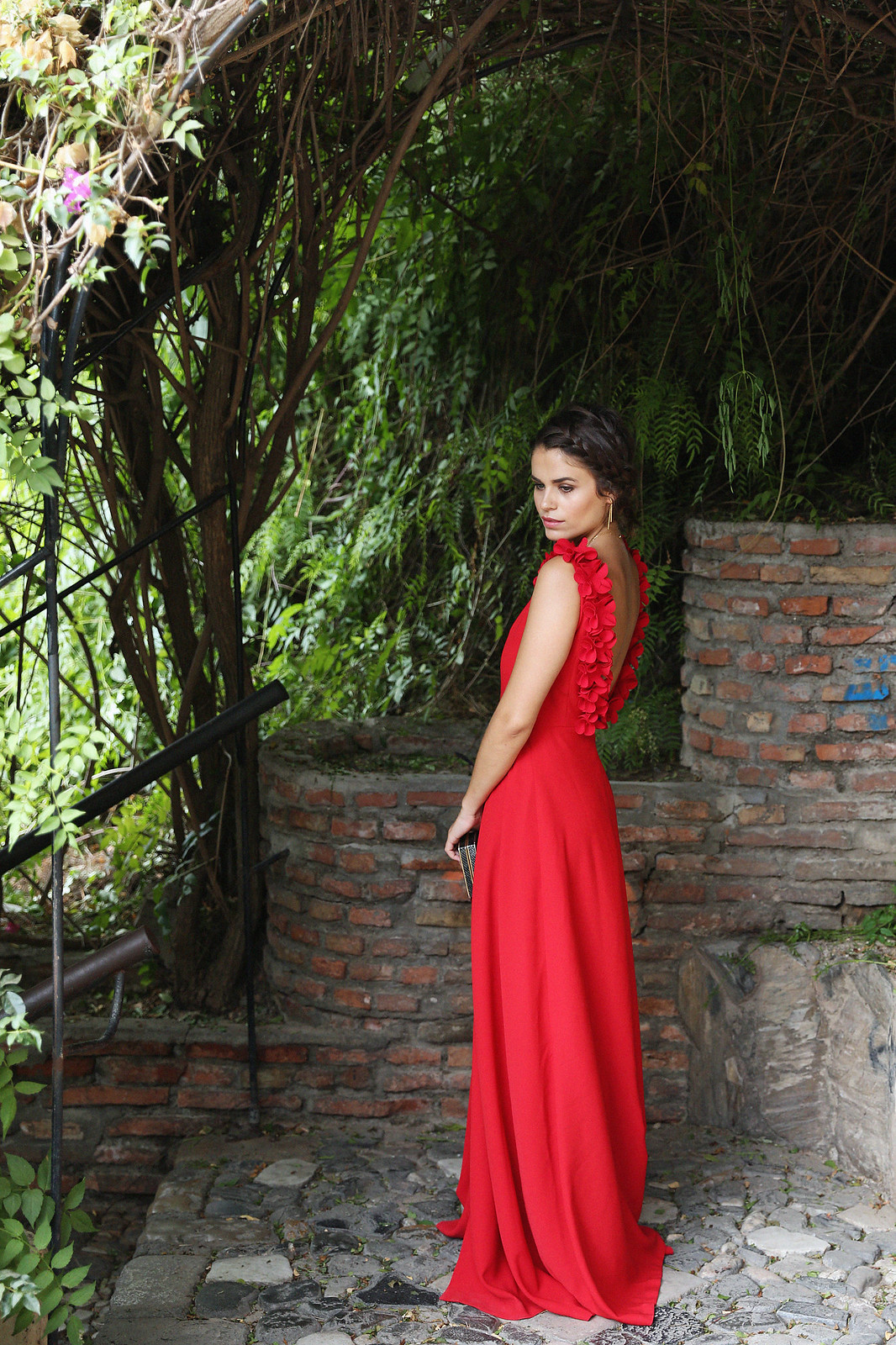 Jessie Chanes Seams for a Desire Apparentia Red Long Dress-2