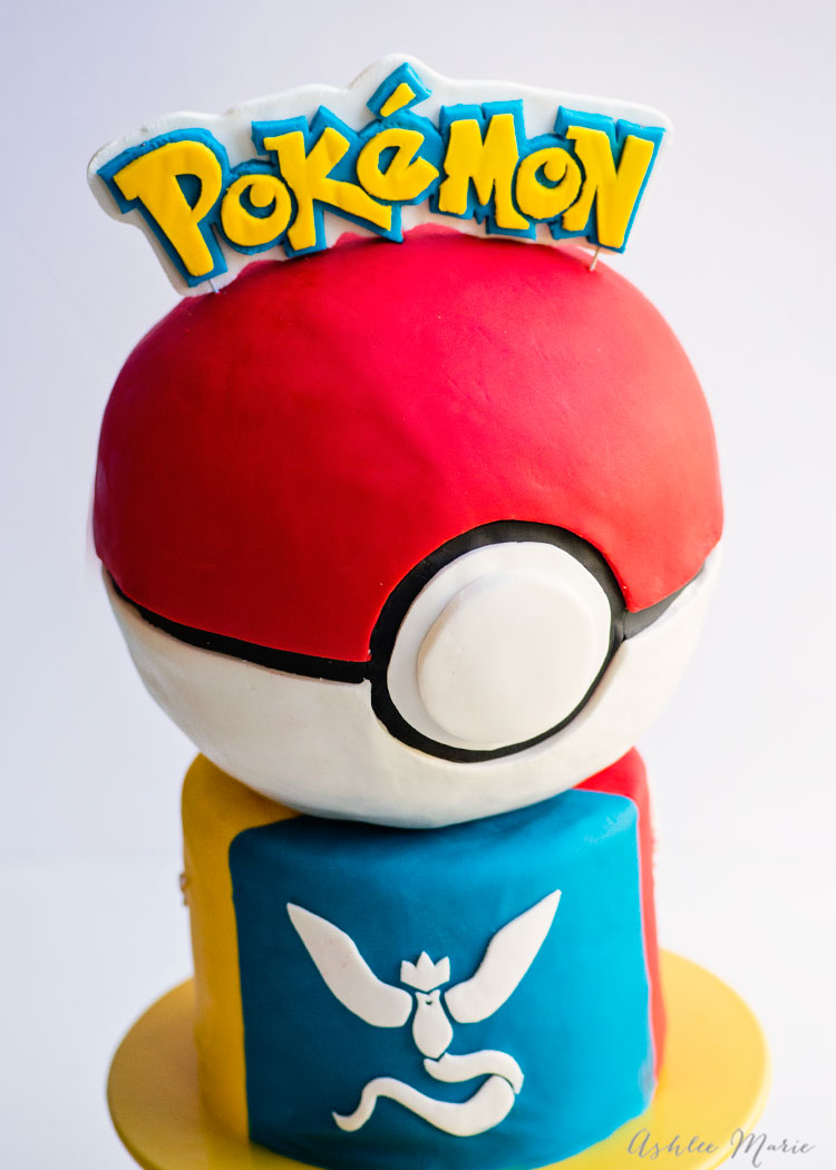 personalize this pokemon go cake by featuring your team, or share all three teams for a full party! video tutorial for this complete cake