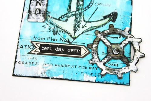 Simply paper craft meihsia Liu mixed media tag nautical tim holtz simon says stamp monday challenge 5