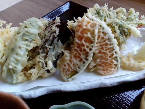 すずしろの天もりの天ぷら。さっくさく。