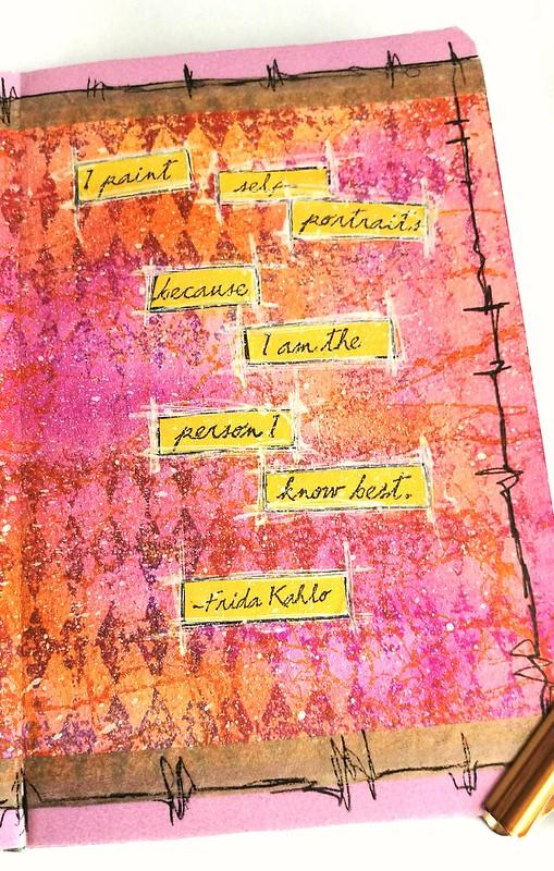 Frida mini art journal