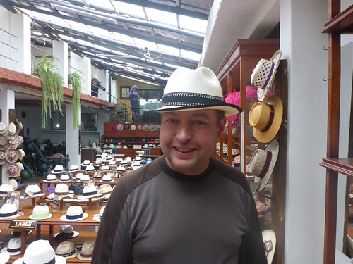 James in a hat