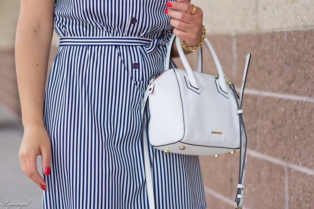 striped shirt dress, blue sandals, white bag-1.jpg