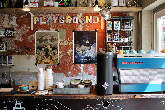 Kaffeeklatsch: Playground Coffee + Ottos Burger Grindel (Hamburg)