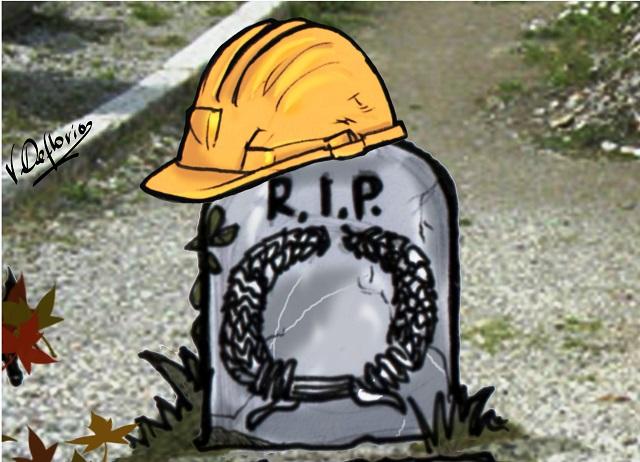 Noicattaro. Vignetta degrado al cimitero intero