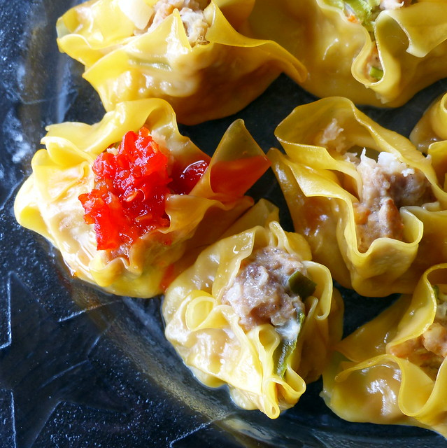 Shumai with chilli and lime sauce (not Bec's perfect shumai)