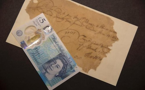 Oldest and newsest Bank of England notes