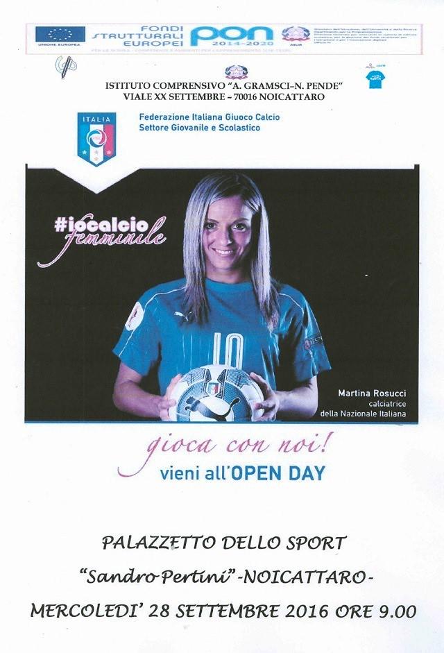 Noicattaro. Open Day calcio femminile intero