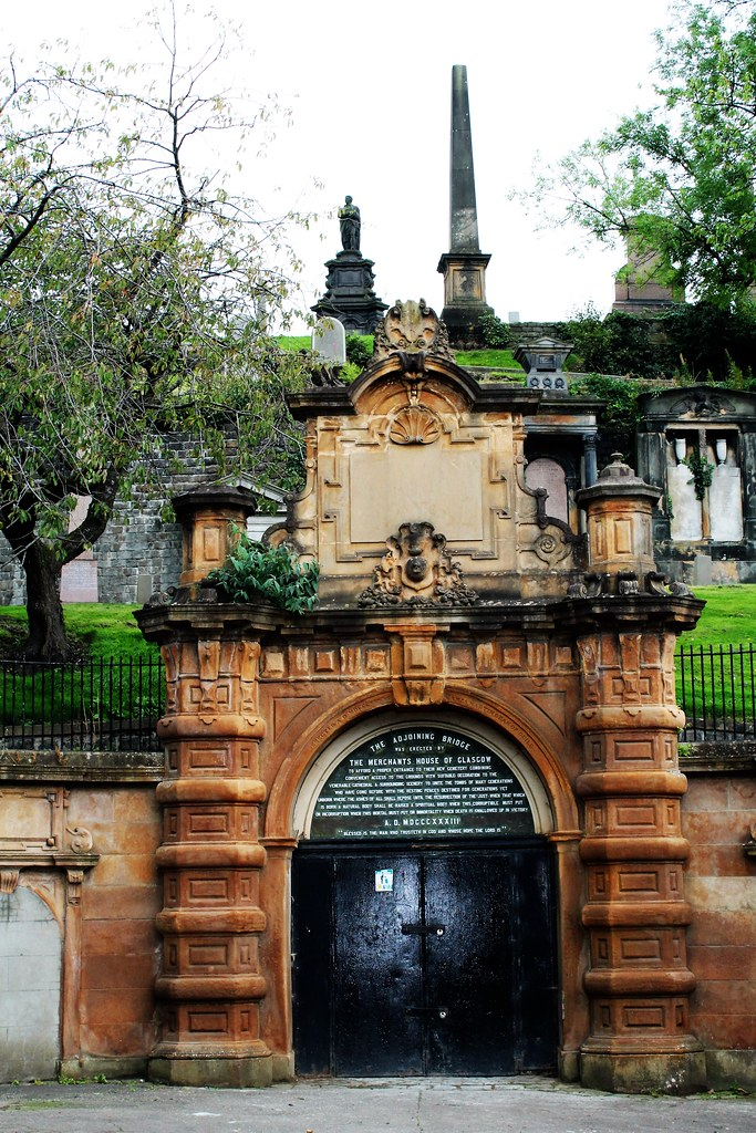 Crypt Entrance Facade, Glasgow Necropolis, Scotland.