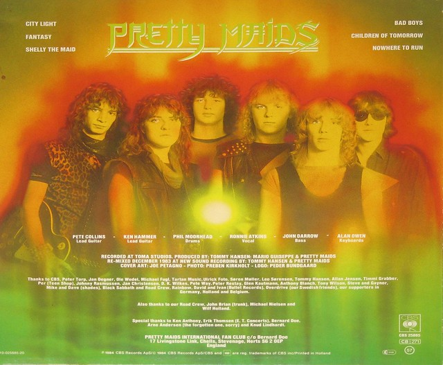 Pretty Maids self-titled 1st / Debut EP album