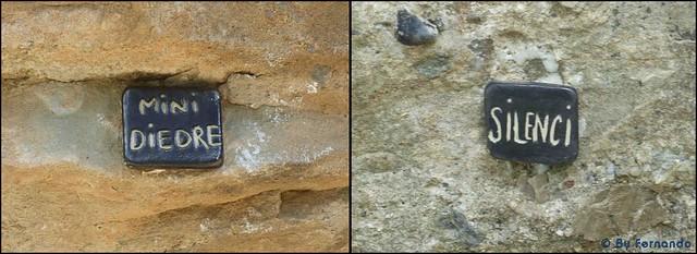 La Cova de l'Ocell -13- Nombres al pie