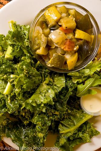 Ratatouille, Ginger Kale Salad