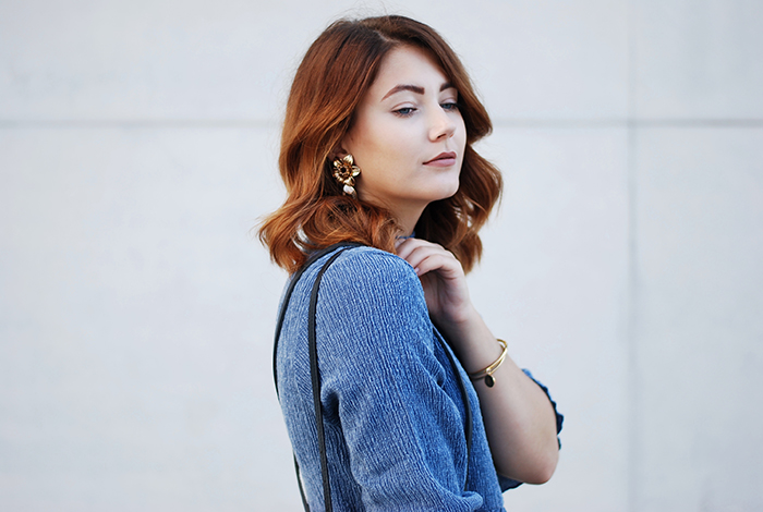 Asos-Denim-Dress-Statement-Earrings