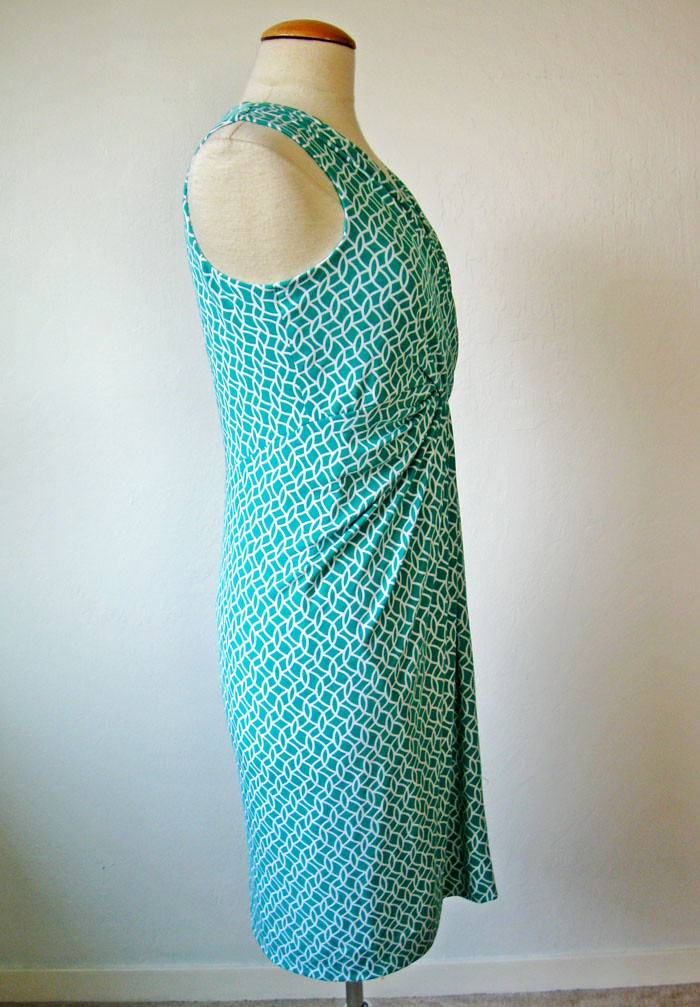 green knit side on form