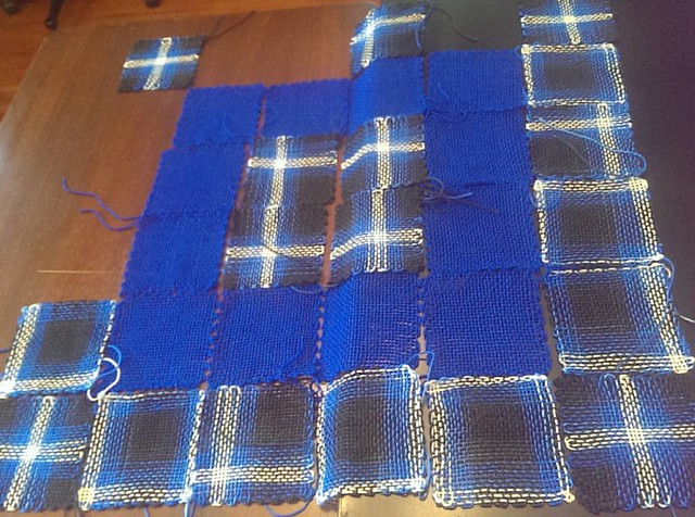 #ctmonthinthelife  day 3- #workinprogress , part 1, since I actually have 3 projects going right now...  Playing around with some pin loom squares, eventually this will either become a light weight throw or a wall hanging.  @wildharefiber 100% merino #han