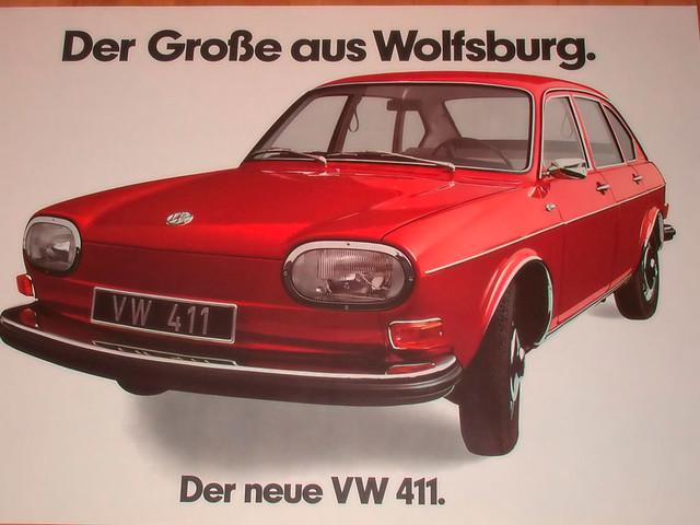 Седан Volkswagen 411. Рекламная брошюра 1968 года
