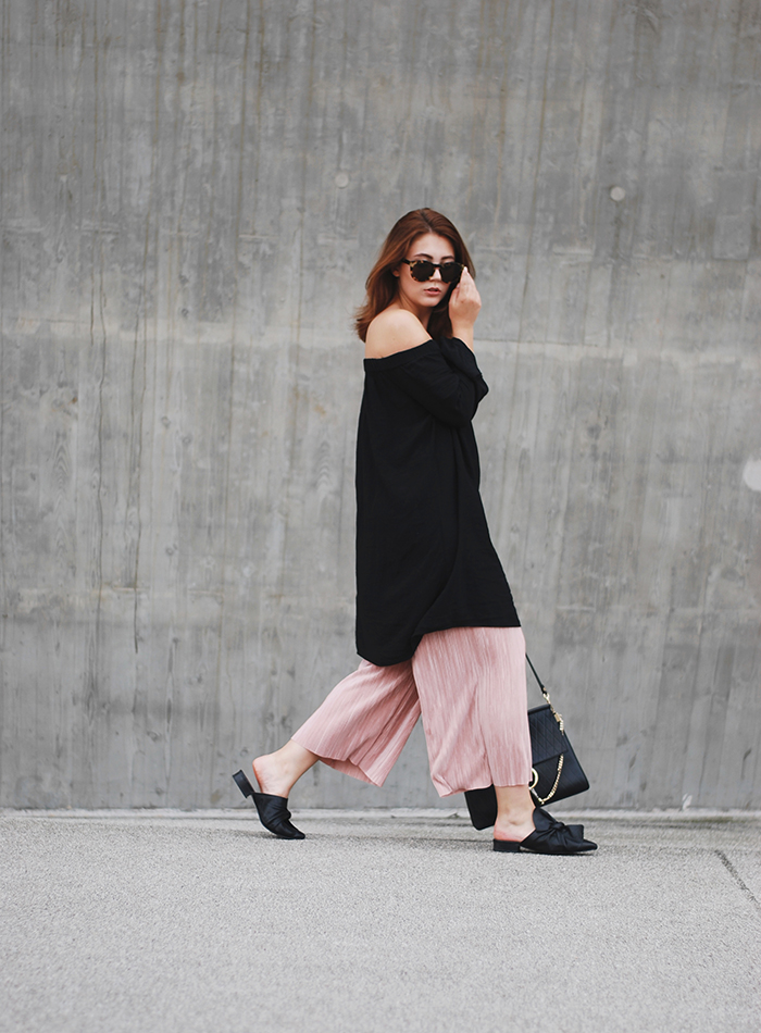 Rose-culottes-off-shoulder-dress
