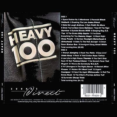 Heavy 100 - Volume 1 - Back