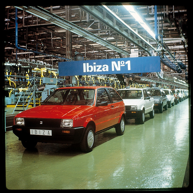 SEAT Ibiza №1. Завода SEAT в Мартореле, 27 апреля 1984 года
