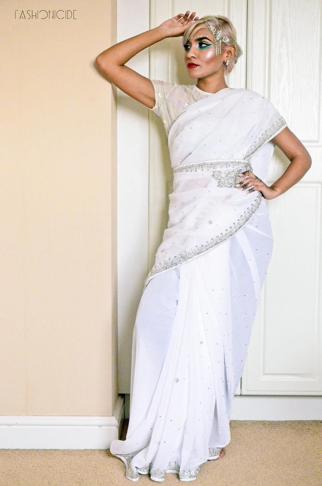 White Silver Sari Eid 6_