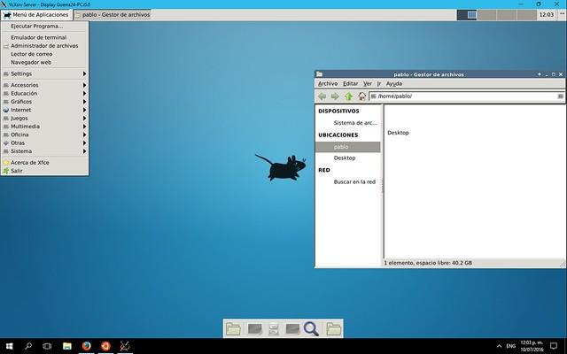 Xfce WSL-en