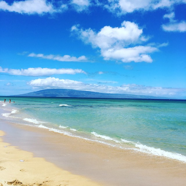 a view of Lanai from Maui