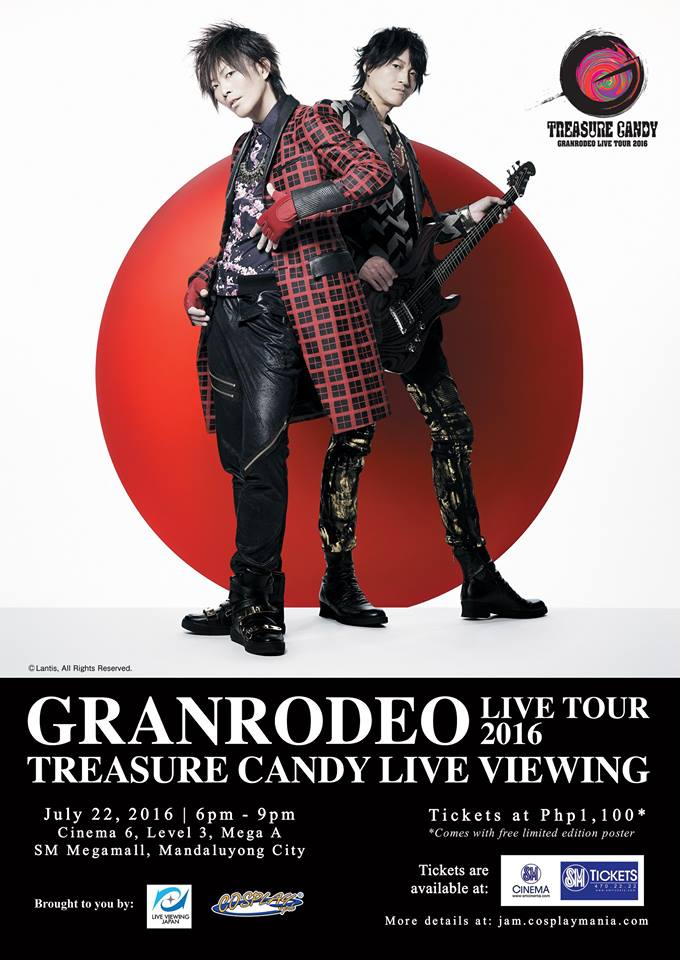 GRANRODEO LIVE TOUR 2016 TREASURE CANDY Philippine Screening