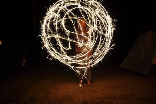 Sparkler fun