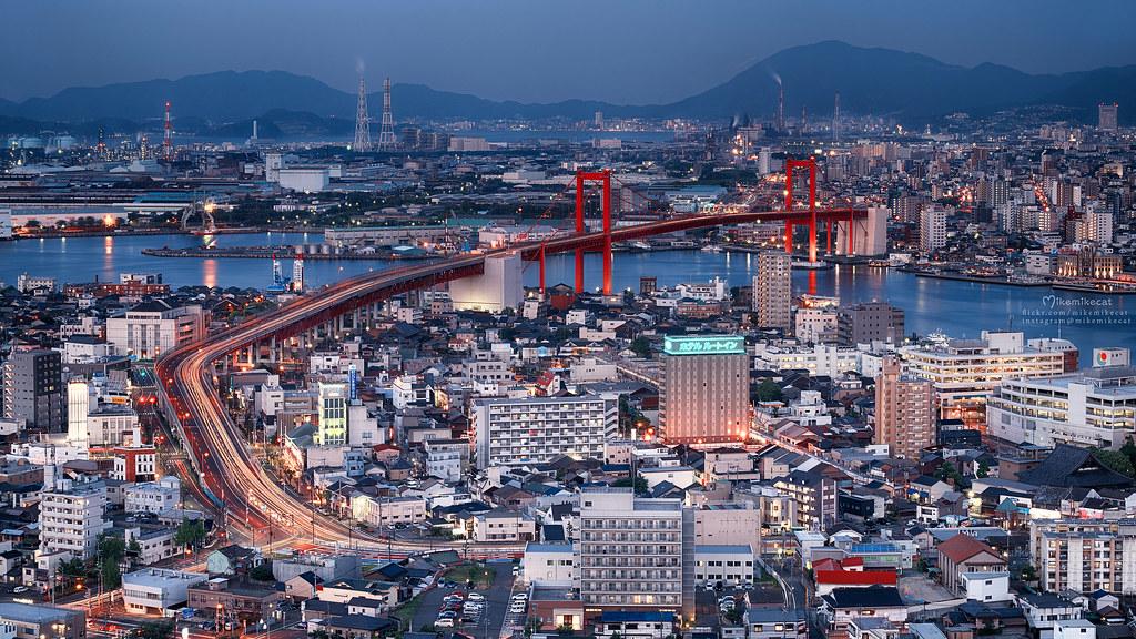 若戸大橋 (Wakato Bridge) 福岡県北九州市若松区大字修多羅