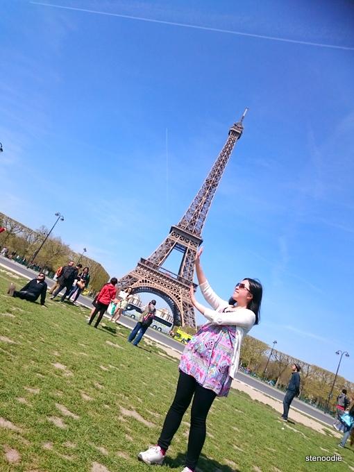 Eiffel Tower tourist photos
