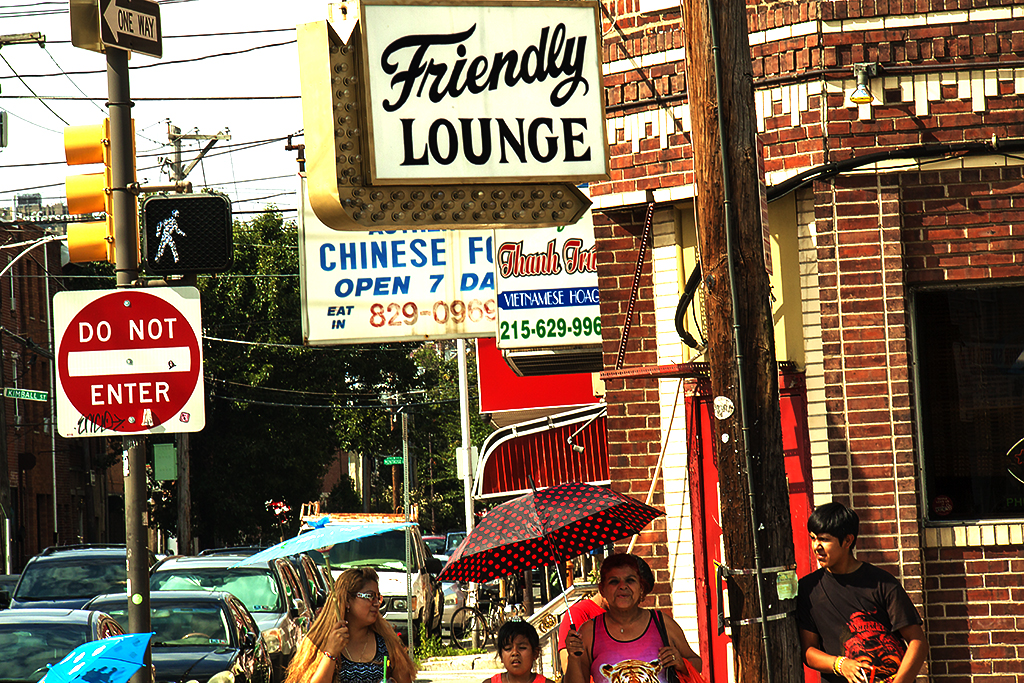 Outside Friendly Lounge on 7-24-16--Italian Market
